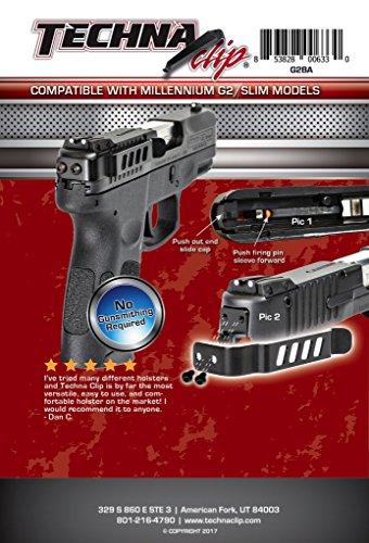 Clip Gun (Techna Clip Gun Belt Clip – Taurus Millennium G2/709 Slim Series, Ambidextrous)