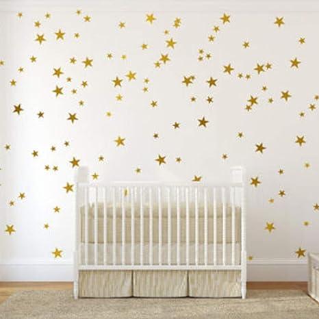 Imagen deSparY Etiqueta de la pared, 55pcs / Set Vinilo Varios Tamaño auto adhesivo para Oro tamaño libre