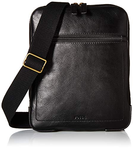 Fossil Men's Haskell Courier Backpack, Black, One Size