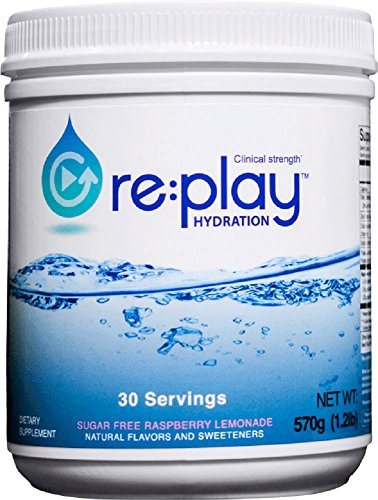 Price comparison product image Re:Play Hydration Recovery Drink Powder, Raspberry Lemonade - 570g tub, 30 servings
