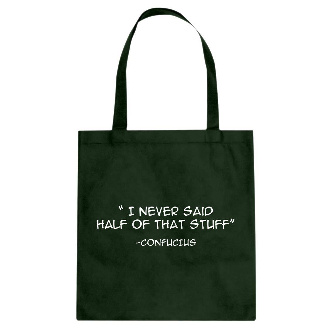 Indica Plateau Confucius say Cotton Canvas Tote Bag