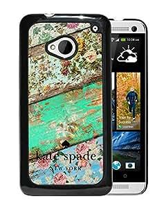 Unique Designed Kate Spade Cover Case For HTC ONE M7 Black Phone Case 104