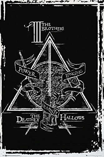 Harry Potter and The Deathly Hallows Graphic 24x36 Poster