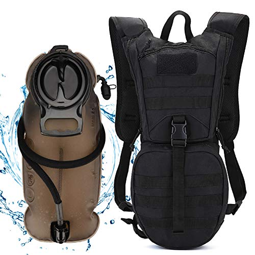 ANTARCTICA Tactical Hydration Pack Backpack with 3L Water Bladder, Lightweight Military MOLLE Daypack for Biking Marathon Hiking Climbing Running Hunting Cycling (Black)