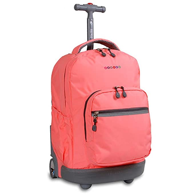 Amazon.com: HCC& Multifunction Waterproof Wheeled Rolling Luggage Backpack for Boys Girls Teenagers Schooling Travel Trolley School Bags 18.1118.6613.38 in ...