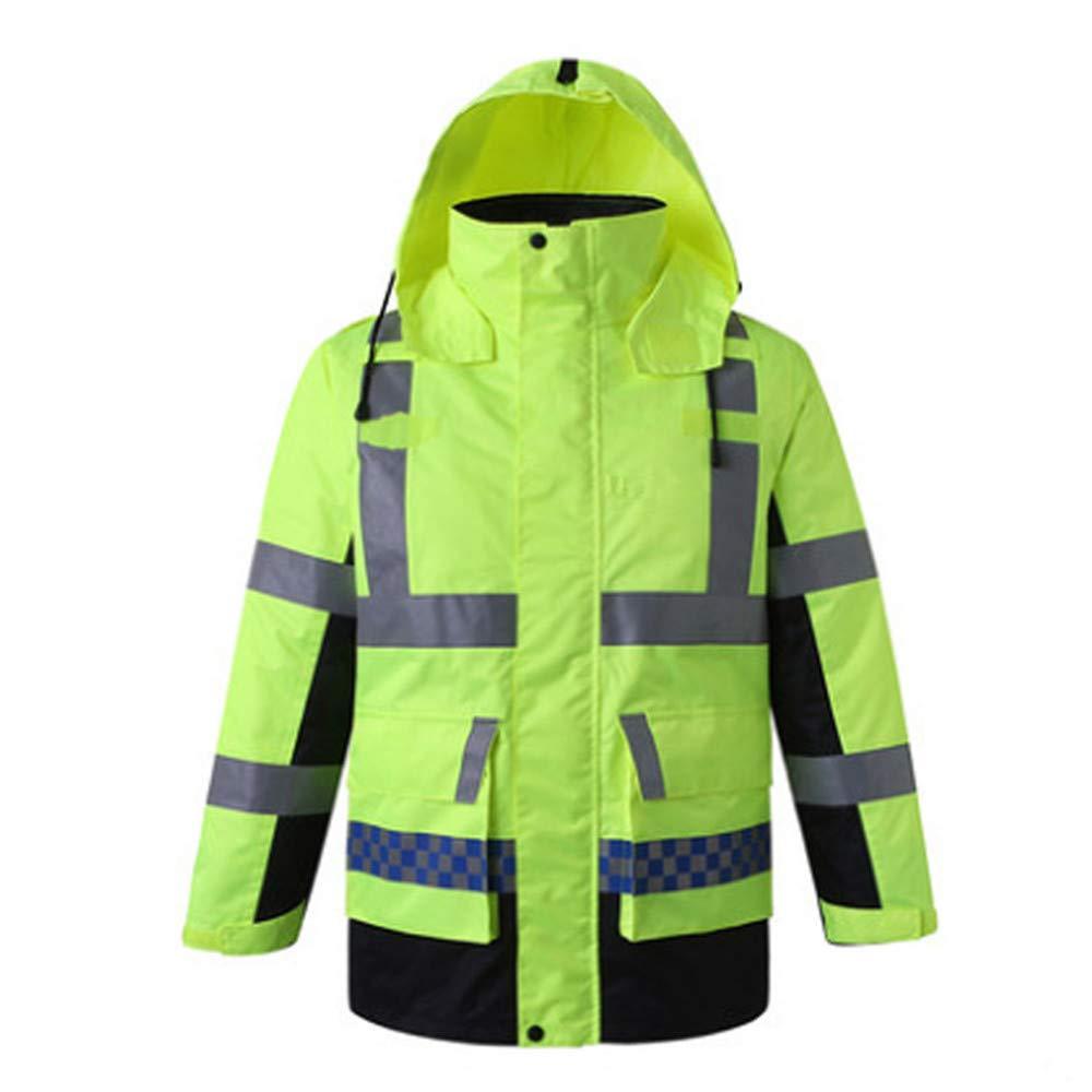SXZHSM-Toy model Detachable Cotton Coat, Reflective Raincoat, Reflective Clothing, Traffic Duty, Raincoat, Construction, Raincoat, Riding Raincoat Reflective Vests (Size : M)