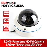 High Quality Full View 180/360 Degree Fisheye 2.0MP Panoramic HDTVI Camera Outdoor 1080P Lens CCTV For Sale