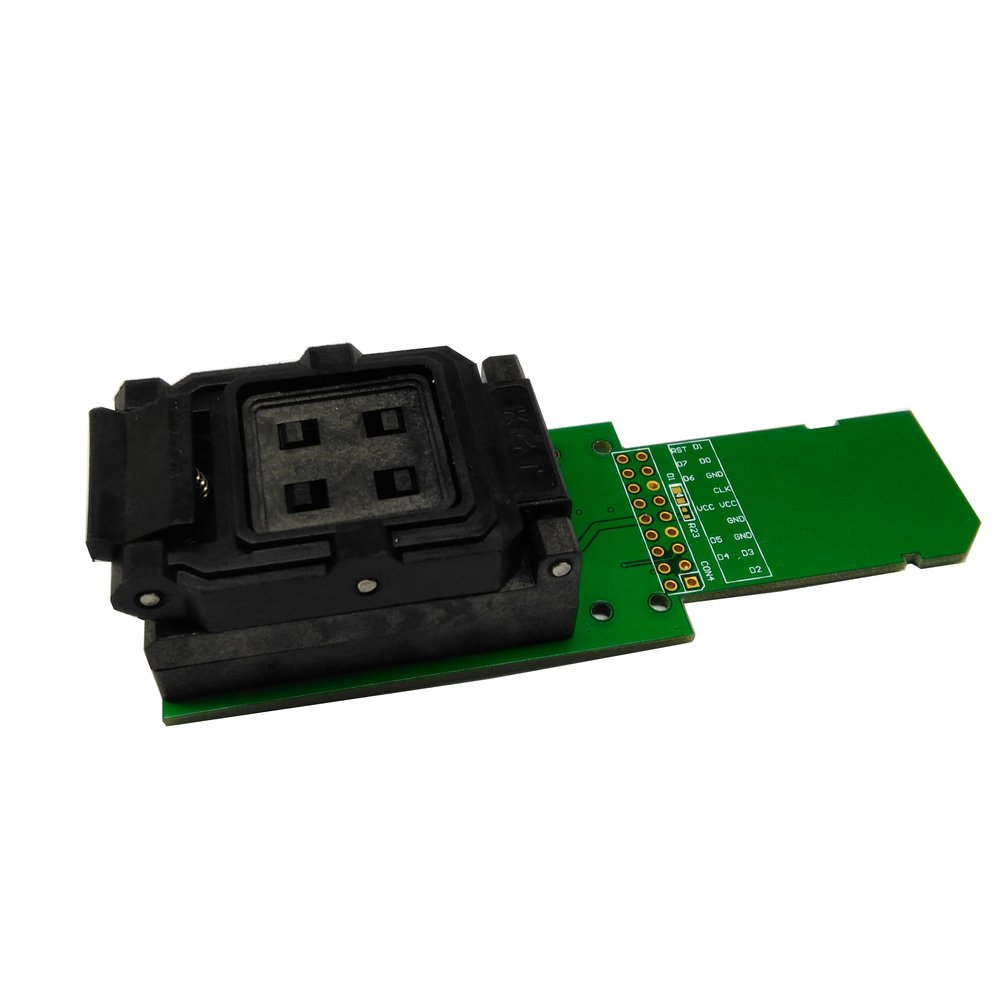 eMMC153/169 socket reader with SD Interface Clamshell Structure Chip Size 11.5x13mm Pitch 0.5mm for eMMC153/169 IC writing and reading speed test or data recovery