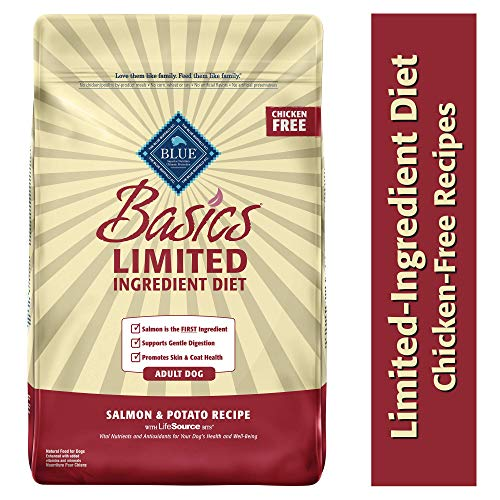 Blue Buffalo Basics Limited Ingredient Diet, Natural Adult Dry Dog Food, Salmon & Potato -