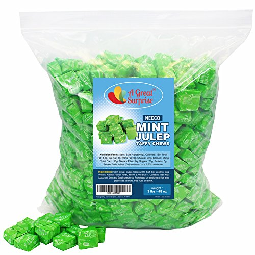 Mint Juleps - Necco Candy - Taffy Chews, 3 LB Bulk Candy