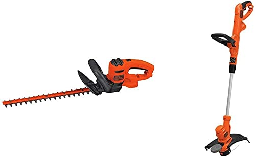 BLACK DECKER BEHT200 Hedge Trimmer String Trimmer with Auto Feed, Electric, 6.5-Amp, 14-Inch BESTA510