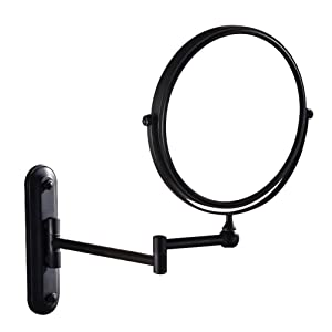 GURUN Two-Sided Swivel Wall Mounted Makeup Mirror With 5X Magnification,Oil-Rubbed Bronze,M1207O(8in,5x Magnification)