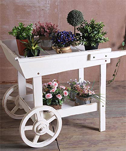 Giow Outdoor Herb Flower Plant Stands American Solid Wood Flower Racks Trolley Flower House Floats Window Flower Pot Shelf Cafe Shop Decoration Succulents Plant Stand 6081cm Indoor and Outdoor U