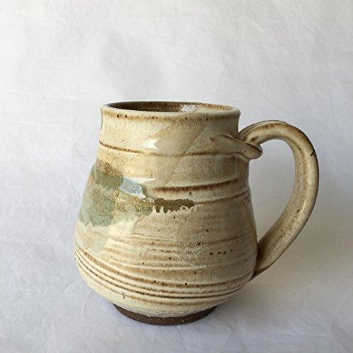 Pottery Coffee Mug, Ceramic Coffee Mug, Wheel Thrown Mug BOVJUL17M3 15 OZ