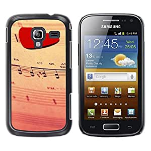Paccase / SLIM PC / Aliminium Casa Carcasa Funda Case Cover - Love Music Heart - Samsung Galaxy Ace 2 I8160 Ace II X S7560M