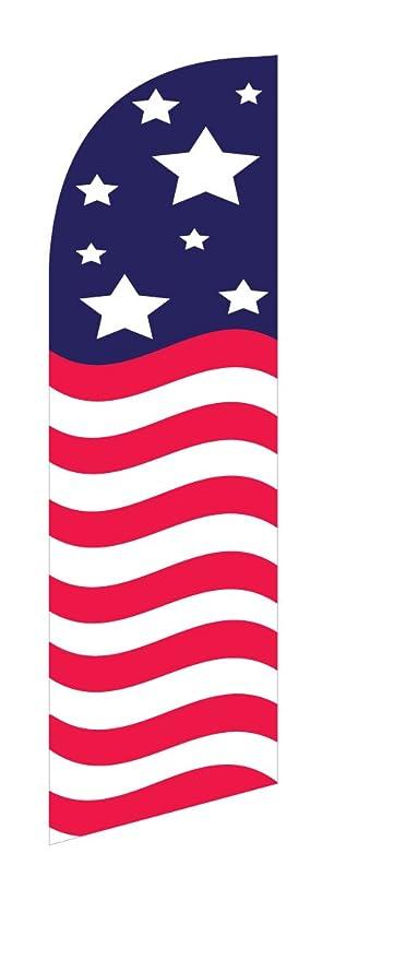 amazon com 30 x78 swooper bow flag wavy american flag vertical