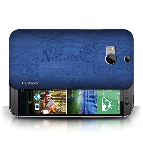 Etui / Coque pour HTC One/1 M8 / Bleu conception / Collection de Motif Nature