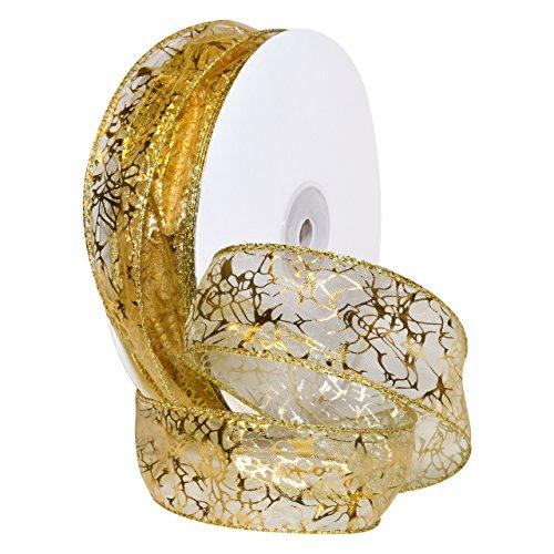 Morex Ribbon 7426.40/50-634 French Wired Nylon Enchantment Ribbon, 1 1/2