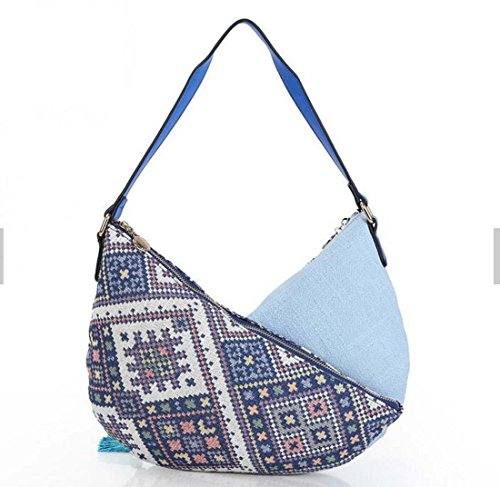 Hobos Canvas Embroidered Shoulder Bag With Light Fringed Boho nTIPpqp