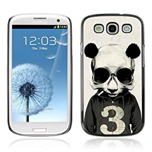 YOYOSHOP [Funny Smoking Panda Hoodie] Samsung Galaxy S3 Case