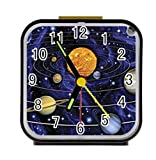 Bernie Gresham Solar System-Custom Square Black Alarm Clock Custom by