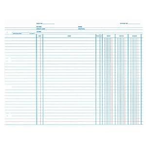 Wilson Jones Balance Ledger Paper, 24 lb, 9.25 x 11.875 Inches, White, 100 per Pack (WN2DA)