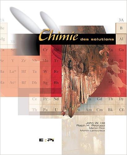 Lire en ligne Chimie des solutions pdf