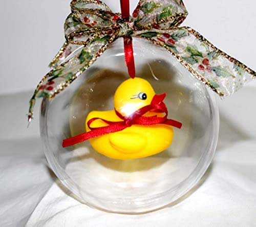 Amazon.com: Rubber Duck Christmas Ornament, Rubber Duck ...