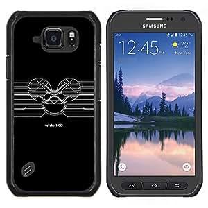 Deadmaus sesión- Metal de aluminio y de plástico duro Caja del teléfono - Negro - Samsung Galaxy S6 active / SM-G890 (NOT S6)