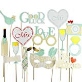 16 Piece Elegant Wedding Photo Booth Props Fully Assembled