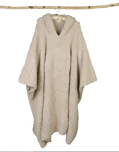 Barefoot Dreams Cozychic Ribbed Cozy - LONG, Color: Stone , Size 2 (Poncho Ribbed)