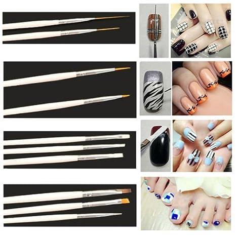 Set de 20 accesorios para diseño de uñas, 15 pinceles y 5 punzones incluidos, de la marca One1X