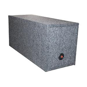 "NEW Q-POWER 15"" Dual Sealed Car Subwoofer Sub Box Enclosure - 36 x 16.25 x 13.25"