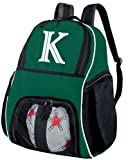 Broad Bay Personalized Soccer Backpack - Custom Volleyball Bag Green