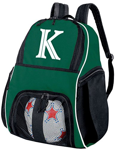 Broad Bay Personalized Soccer Backpack - Custom Volleyball Bag Green from Broad Bay