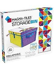 Magna-Tiles Kosz do przechowywania i interaktywna mata do zabawy, składany kosz do przechowywania z uchwytami do pokoju zabaw, szafy, sypialni, organizacji domu i sali lekcyjnej, 30 x 30 x 20 cm kosz