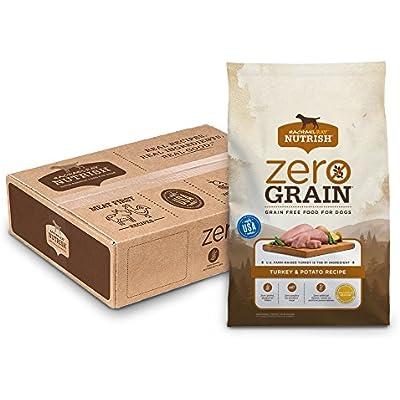 Rachael Ray Nutrish Zero Grain Natural Dry Dog Food, Grain Free, Turkey & Potato, 17 Lbs