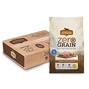 Rachael Ray Nutrish Zero Grain Natural Dry Dog Food, Grain Free, Turkey & Potato, 17 lbs