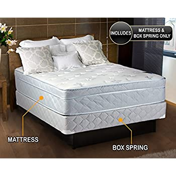 natures dream plush eurotop pillow top twin size mattress and box spring set. Black Bedroom Furniture Sets. Home Design Ideas