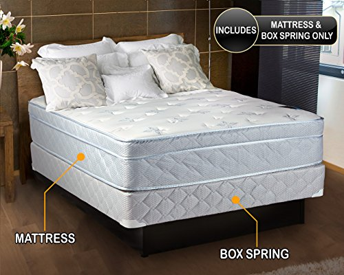 Select Plush Super Pillow Top - Natures Dream Plush Eurotop (Pillow Top) Queen Size Mattress and Box Spring Set