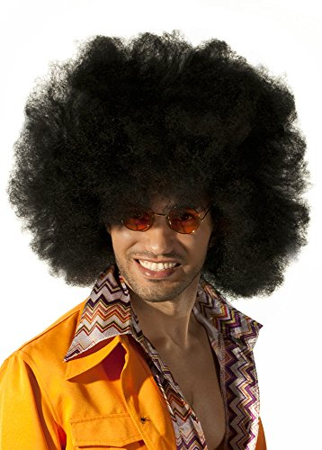 Motown Fancy Dress Costumes (Adult's Giant Black Afro Motown 1970's Wig by Elevate Costume)
