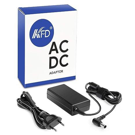 KFD 65W Adaptador Cargador Ordenador Portátil 19.5V 3.33A para Sony Vaio VGP-AC19V48
