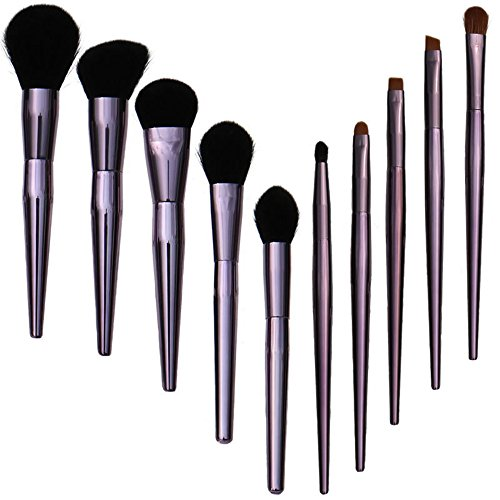 PIANZHI Makeup Brush Set, 10Pcs Professional Essential Facial Eye Shadow Eyeliner Liquid Foundation Blush Lip Powder Liquid Cream Mixing Brush (Liquid Stucco)