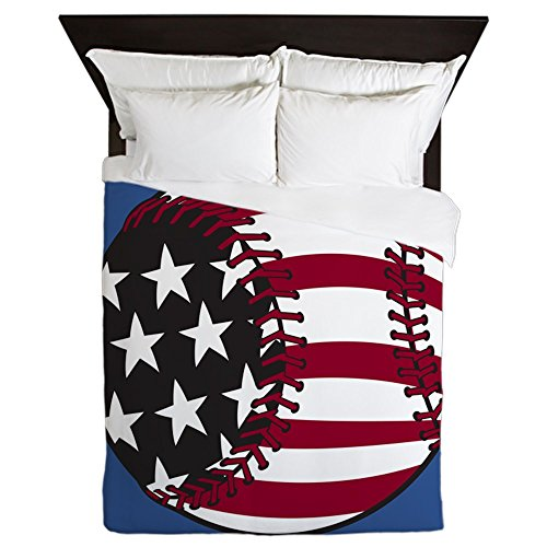 CafePress - Baseball - Queen Duvet Cover,