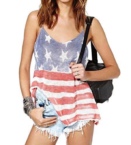 造船これまでアプライアンスTootess Women's Leisure July 4th Cotton Sexy Backless Cami Vest