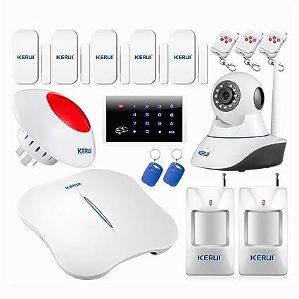 KERUI - W1 Kit PSTN sistema de alarma para casa wifi Sensor ...