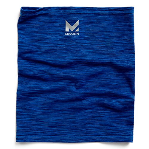 Mission HydroActive Fitness Multi-Cool Neck Gaiter and Headband, Royal Blue Space Dye, One Size ()