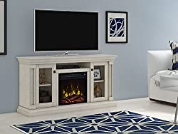 ClassicFlame Foxmoor Electric Fireplace TV Stand, White Oak - 18MM7325-PO34S