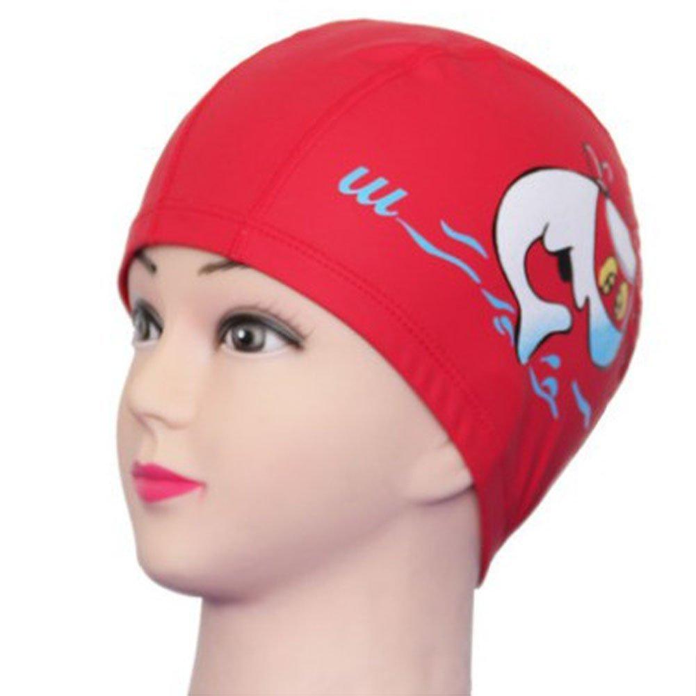 LK.8871 1PCS Bonnet de Protection pour Enfants Bonnet de Bain ( Rouge )