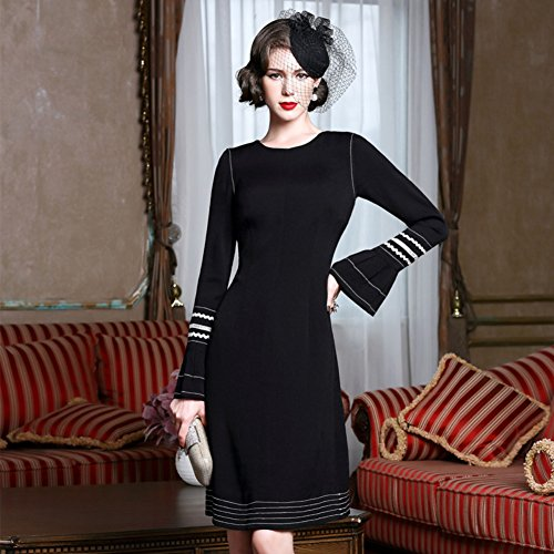 Women Dresses Sleeve s a Long Dresses cotyledon Neck Line Round Bodycon Oqgg1d